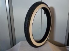 Mobylette Weeky M11 Whitewall Tyre 2.25-16 Rear