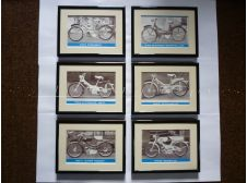 Raleigh Mopeds RM6, RM8, RM9, RM11, RM12 Framed Pictures (Set of six)