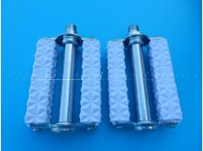 Peugeot 101,102,103,104, BB Rally White Pedals French Thread Size 14x1.25 mm (Union - Lyotard type)