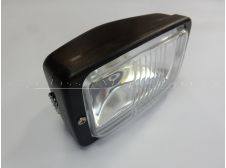Universal Front Headlight Lamp Rectangular Fitting with 140mm in Black