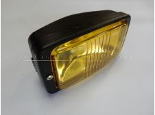 Universal Front Headlight Lamp Rectangular Fitting with 140mm Yellow Lens French European