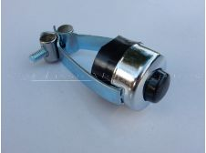 Universal Chrome Horn or Stop, Kill Switch Push Button to fit 7/8 with BLACK BUTTON